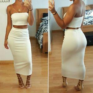 Dresses & Skirts - White Pencil Skirt.